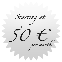 Starting at 50 € / month
